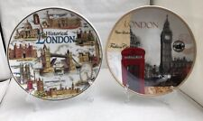 Two London Decoration Showpiece Table Display Plate With Stand Souvenir Gift