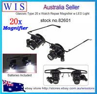 20 x Magnifying Glass w Led Watch Repair Magnifier,Repair Magnifier Glasses82601