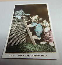 "Cats on A ladder ""over the garden wall posted1920 B2"