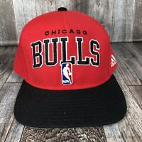 Chicago Bulls Adjustable Black Red Snapback Hat Cap NBA Basketball One Size OSFM