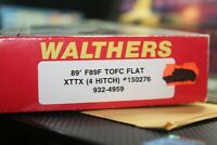 89FT F89F TOFC FLAT XTTX  PIGGYBACK car KIT CAR 1/87 ho ATHEARN WALTERS 4 HITCH