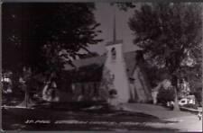 (yfo) Real Photo Postcard Tama-Toledo IA: St. Paul Luthern Church