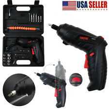 45PCS Electric Screwdriver Set Rechargeable Cordless Drill Kit Power Tool & Case