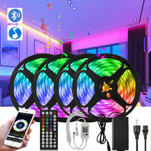 65FT-16FT Music Sync Bluetooth App Remote Rooms Bar TV LED Strip Lights Full Kit