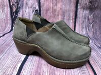 Ariat Women's Taupe Suede Leather Slip On Clogs Size 8 B