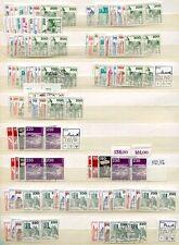 BERLIN 1977-1990 POSTFRISCH und GEST LAGER PAARE TADELOS über 2000€ (U6026d