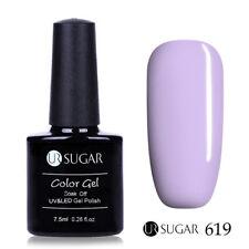 UV Gel Nail Polish Soak Off Pure Colors Gel Varnish Manicure Purple Pink Glitter