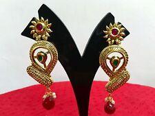 Ethnic Indian Bollywood Fashion Bridal Gold Wedding Jewelry Earrings Set