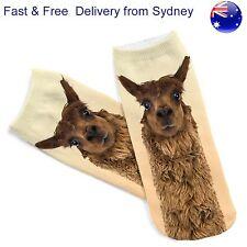Alpaca socks - Weird animal look novelty footware - birthday gift present sock