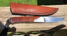 DAVE RICKE, BIRD AND TROUT KNIFE  &  SCHRAP SHEATH