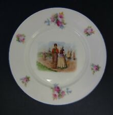 Vintage Epiag China Plate: Dutch Couple in Traditional Dress & Windmill
