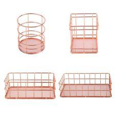 Iron Storage Baskets Home Garden Organization Pink Desk Office Accessories