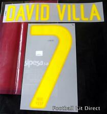 Barcelona David Villa 7 2011-12 Football Shirt Name Set Home & Away
