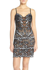 * NWT Natori 'Exotic' Floral Lace Chemise BLACK $225 S, LAST ONE