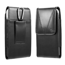 Vertical Leather Carrying Pouch Case Holster Belt Loop For iPhone 6 6S 7 8 SE 5S