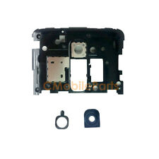 Black Plate Rear Camera Frame Lens Cover Replacement for LG Optimus G2 D800
