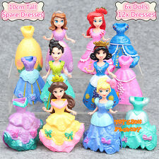 6x Princess Belle Ariel Cinderella Snow White Sofia MagiClip Barbie Doll Toy