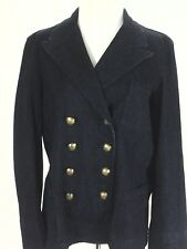 Ralph Lauren Peacoat Blazer LRL Denim Jacket Blue Crest Buttons Women's XL $229