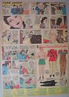 Jane Arden Sunday with Large Uncut Paper Doll from 9/3/1939 Tabloid Size Page!