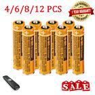 1.2V AAA Ni-MH Rechargeable Batteries 700mAh for Panasonic Cordless Phones 4-12p