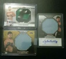 3 Card Lot Lyoto Machida 2013 Topps UFC Finest Jumbo Mat Auto + Relics