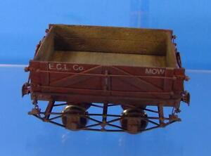 RS-0133 On3 BRASS PRECISION SCALE WEST SIDE LUMBER AUTOMATIC DUMP CAR ECL CO. #1