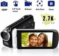 Video Camera Camcorder 24MP HD 1080P Digital Camera 18X Zoom 3.0 HD Touch Screen