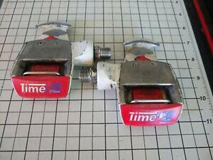 Time Equipe  Magnesium Road Racing Cycling Pedals Red Pedal Set 1997