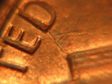 1983 P Lincoln Penny with Reverse Die Crack Error
