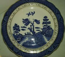 """Plate The Majestic Collection Booths """"Real Old Willow"""" Royal Doulton Fine China"""