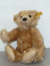 """12"""" Mohair Steiff Bear, Wool Pads, Glass Eyes, Stitched Nose, Jointed, #0151/32"""