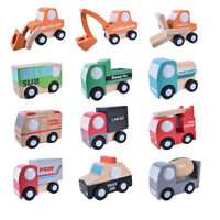 12pcs Wooden Educational Toy Mini Car Kids Trucks Vehicles Model Boy Gift S