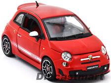 BbURAGO 1:24 2008 FIAT 500 ABARTH NEW DIECAST MODEL CAR RED 22111