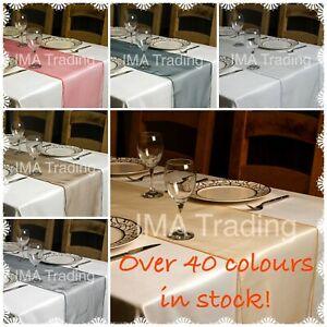 Pretty Colours ORGANZA 35cm x280cm TABLE RUNNER CENTREPIECE DECORATION PARTY UK