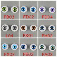 20mm Reborn Baby Doll Eyes Half Round Acrylic Eyes For BJD OOAK Doll Accessories