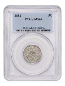 1882 5c PCGS MS64 - Shield Nickel