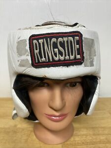 Ringside Official Competition Boxing Headgear With Cheeks Medium White USED
