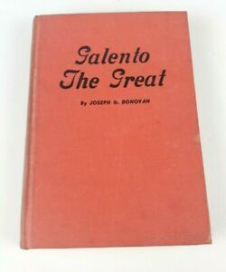 """Tony Galento Boxing Book """"Galento The Great"""" Signed 1ST ED Pub 1939 Hard Cover"""