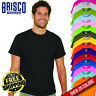 Brisco Ultra Cotton 6.1 oz Adult Plain White Color Blank T Shirt Tee Top