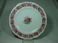 "Queen Ann Bone China Lady Alexander Rose 10 1/4"" Dinner Plate Gold Trim"