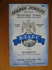 Bedford Town v Wisbech Fa Cup 4th Qualifying Round 1st November 1958