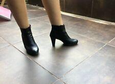 Botines de piel mujer, negros, 40, precio nuevos 79€