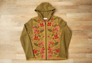 Dunque by Schweikardt Moden Schurwolle Wool Floral Cardigan Sweater Jumper M