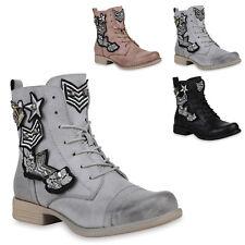 Damen Stiefeletten Gefütterte Chelsea Boots Nieten Schuhe 823567 Trendy Neu P8sK2