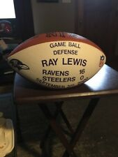 Baltimore Ravens Ray Lewis 9-3-2000 Vs Steelers Game Used H.O.F. NFL  Football