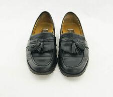 Johnston & Murphy Mens Tassle Black Loafers Mocassins Dress Shoes Size 9.5M 40