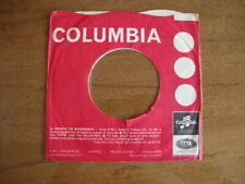 COLUMBIA ORIGINAL USED COMPANY RECORD SLEEVE 45RPM 7 INCH VG