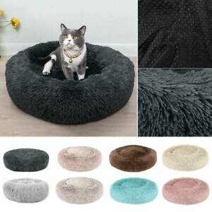 Dog Cat Pet Calming Beds Plush Cushion Fluffy Washable Puppy Comfy Mat Comfy #