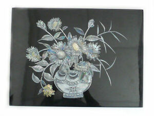 Vase with Daisy Handmade Mother Of Pearl Inlay Picture PMM01 #Alulu