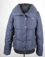 Hollister Navy Blue Quilted Puffer Jacket M